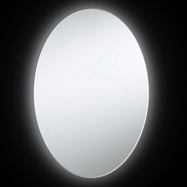 22W Oval Mirror, Backlit 35x28 Inch