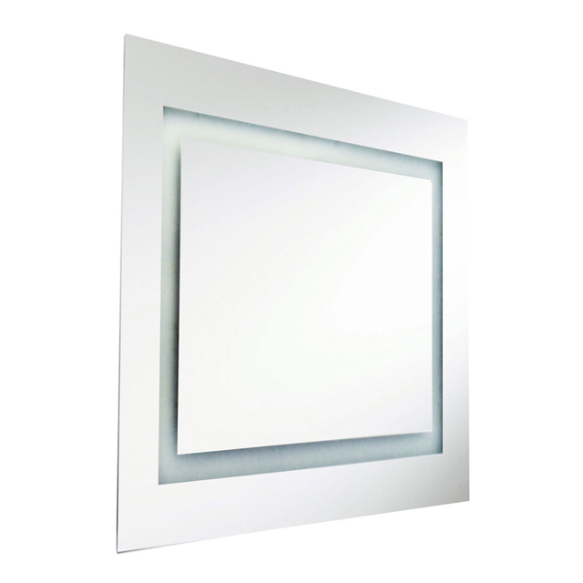 58W Square Mirror, Inside Illuminated 36 Inch
