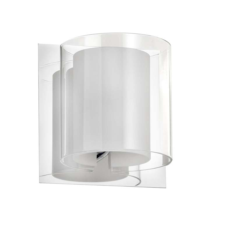1 Light Sconce Double Glass