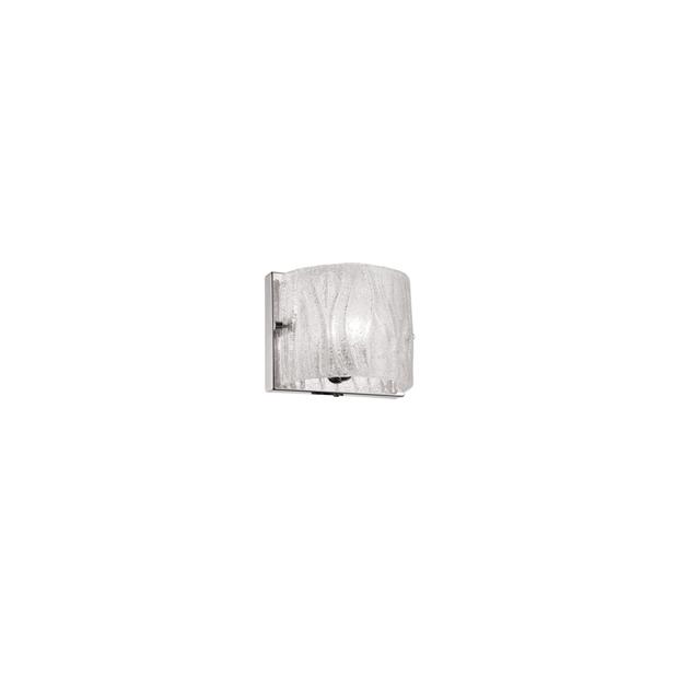 1 Light Sconce w/ Sugar Glass,PC