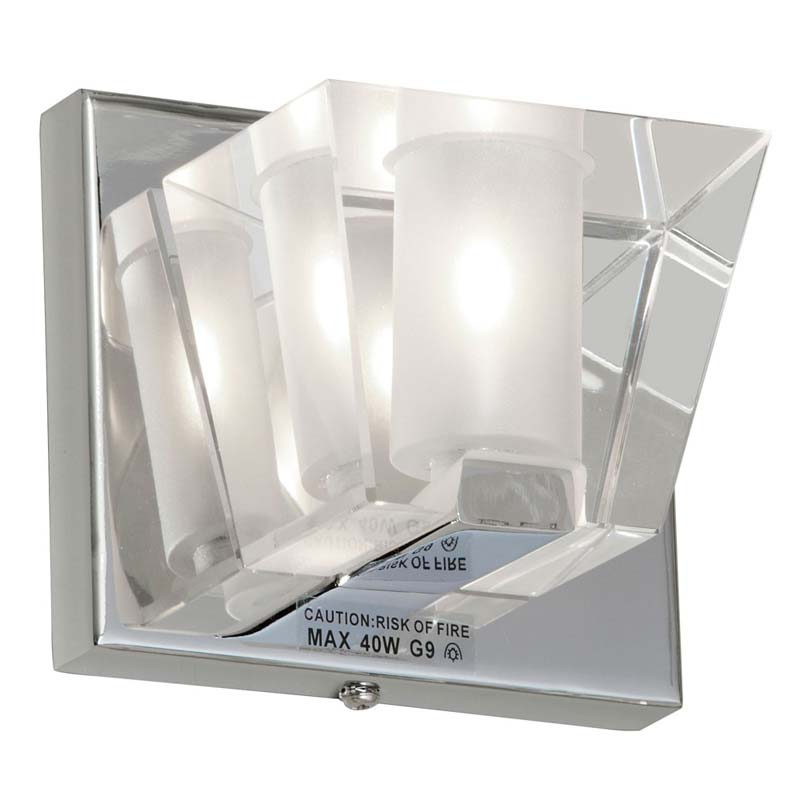 1 Light Sconce w/Optical Crystal Shade