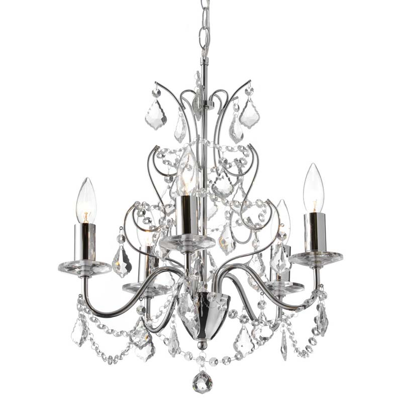 (K)5 Light Crystal Chandelier