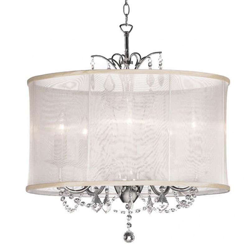 (K)5 Light Crystal Chandelier Oys Shade