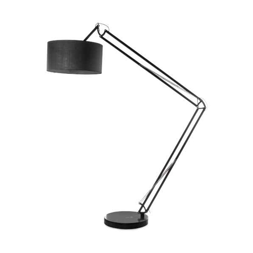 1LT Incandescent Adjustable Floor Lamp, Black