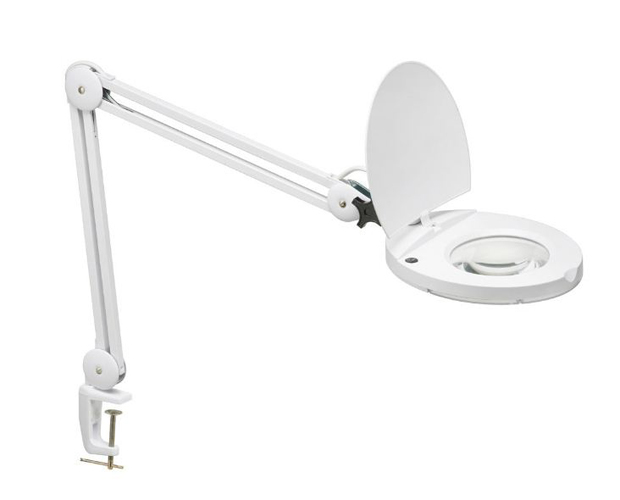 LED Magnifier w/A-Bracket White