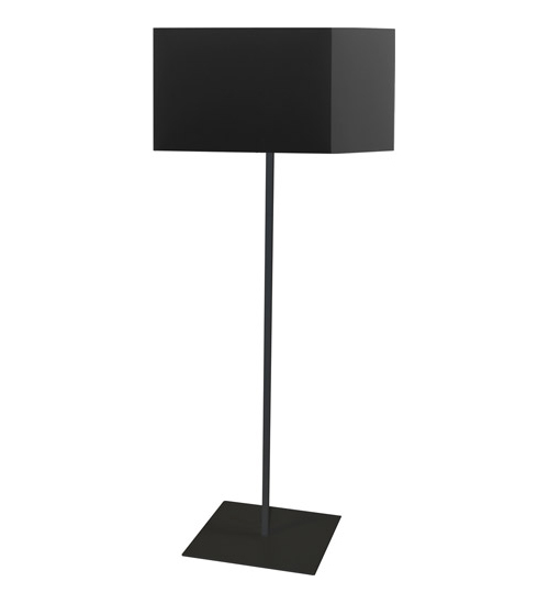 1LT Square Floor Lamp w/ Black Shade
