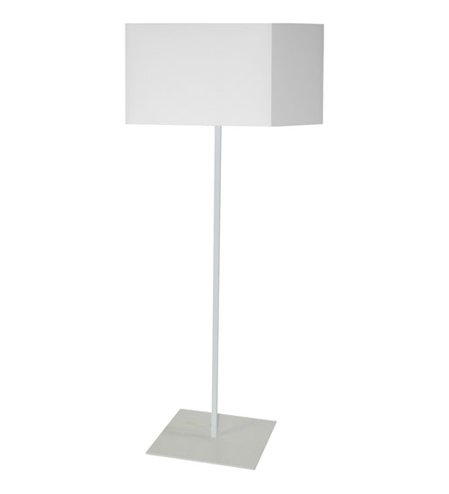1LT Square Floor Lamp w/ White Shade