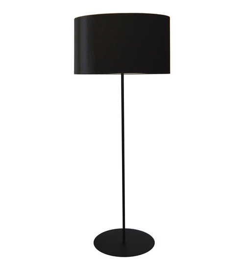 1LT Drum Floor Lamp w/ Black Shade