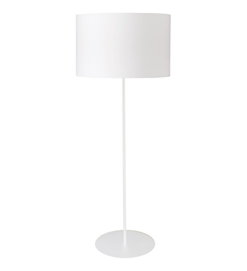 1LT Drum Floor Lamp w/ White Shade