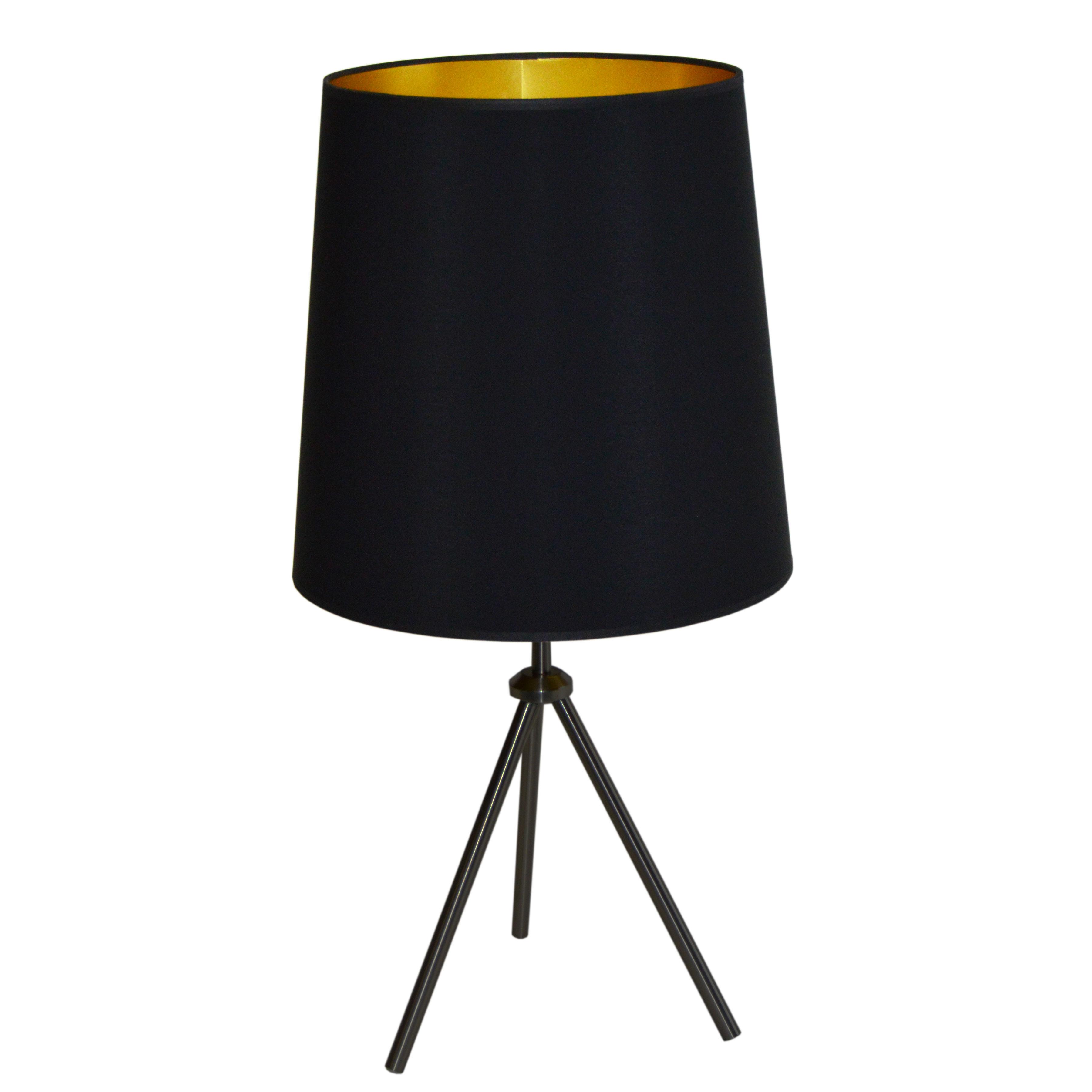 1LT 3 Leg Drum Table Fixture w/BK-GLD Shd