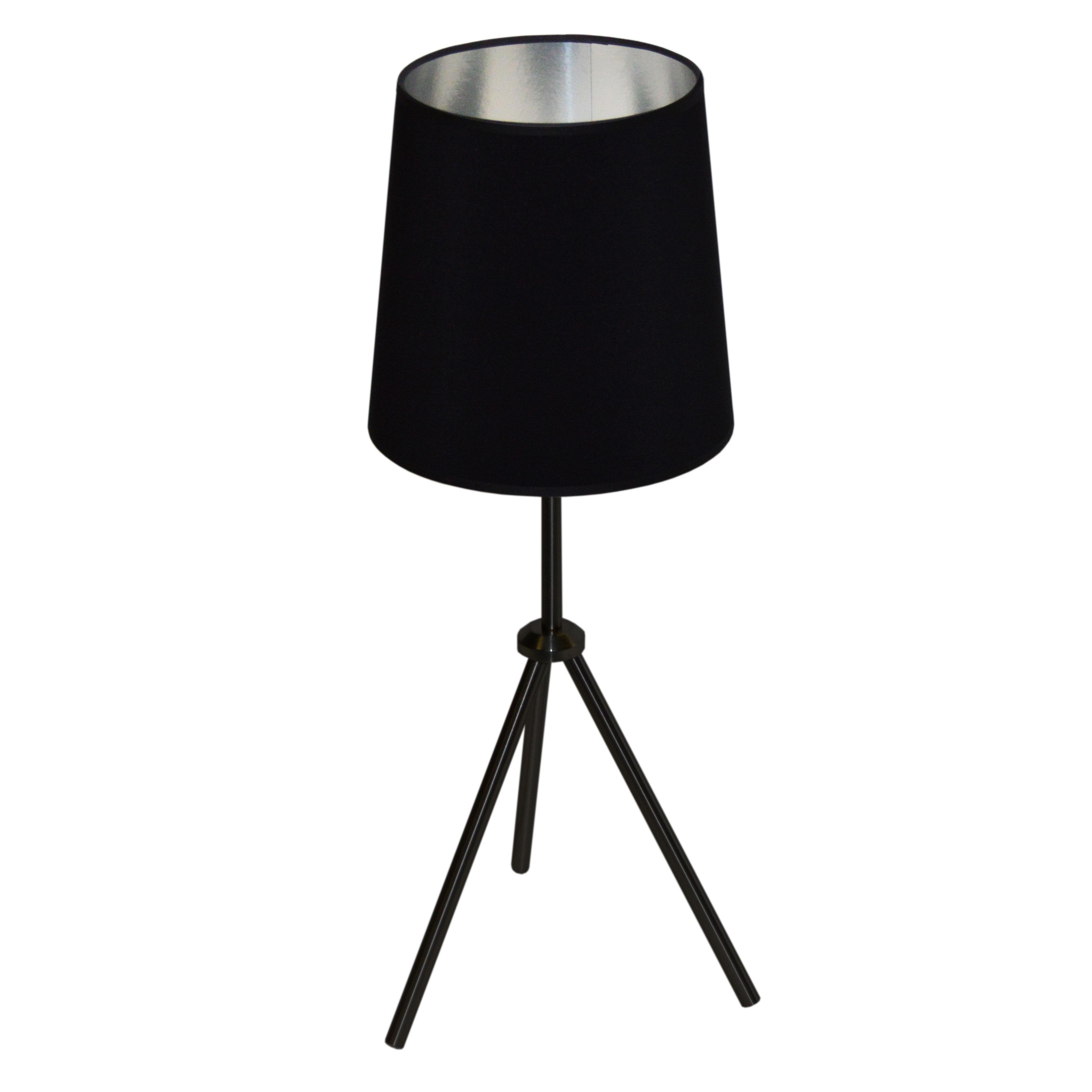 1LT 3 Leg Drum Table Fixture w/BK-SV Shd