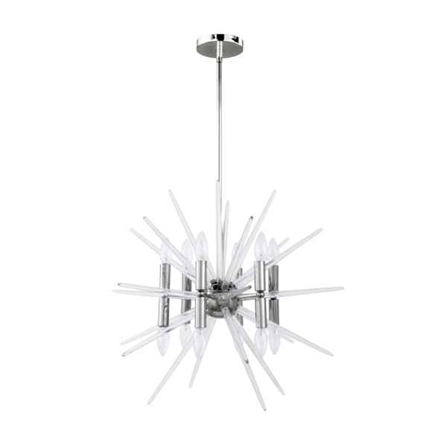12LT Incandescent Pendant, Polished Chrome Finish