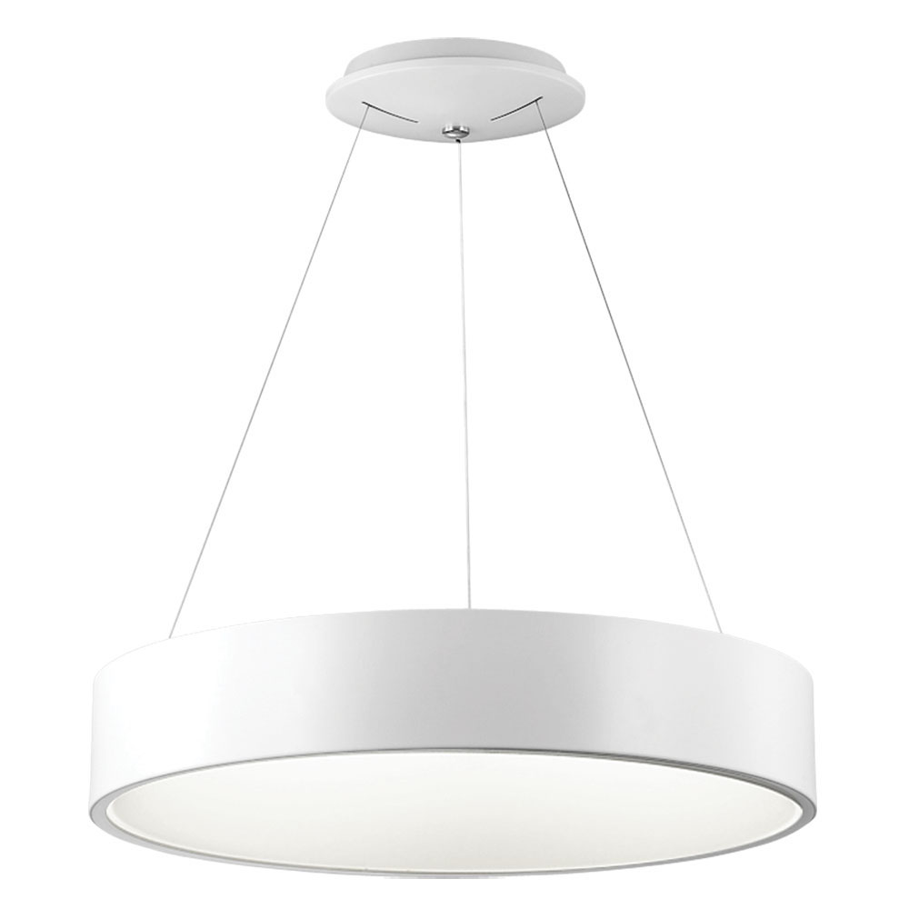 "Dainolite Home Indoor Decorative 36 Watt LED Pendant - 24"" Diameter White"
