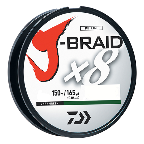 J-Braid 30lb DkGreen 150m