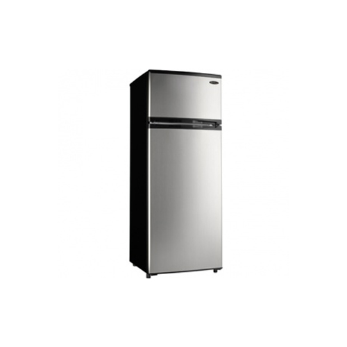 Mid-Size Refrigerator - Black with Spotless Steel Door