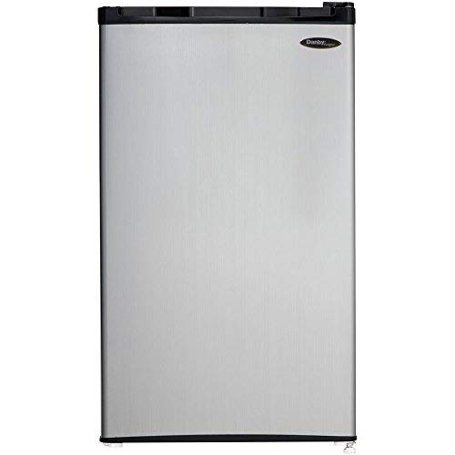 3.2 CF Compact Refrigerator - Black with Spotless Steel Door