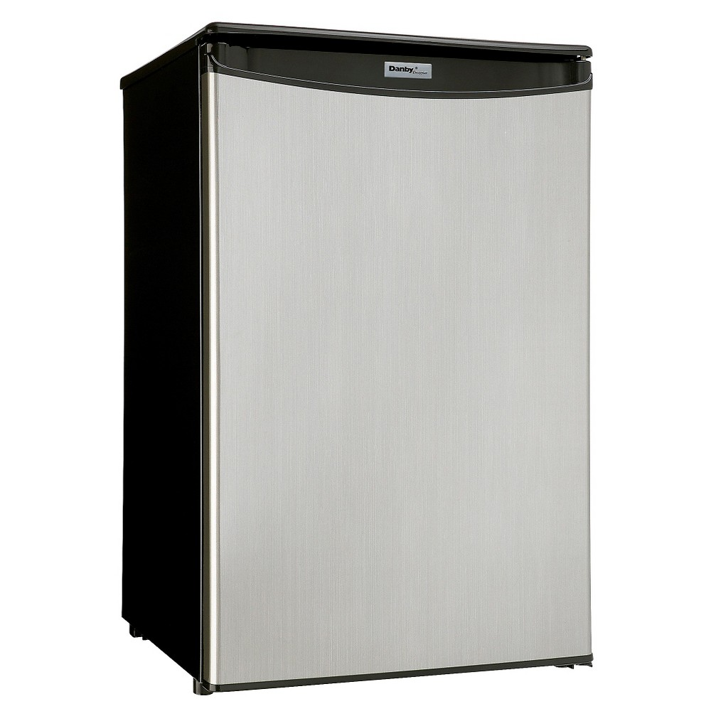 4.4 CF Compact All Refrigerator, Black with Spotless Steel door