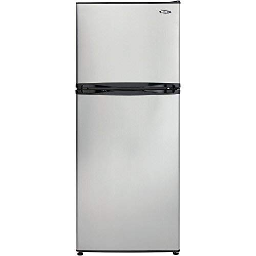 10 CF Apartment size refrigerator - Black with Spotless Steel Door