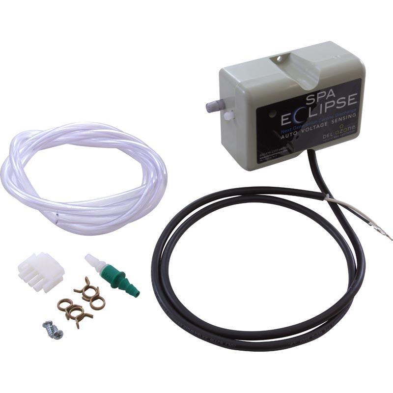 Ozonator, Del Industries, SpaEclipse, Corona Discharge, Universal, 115/230V w/ Amp Plug