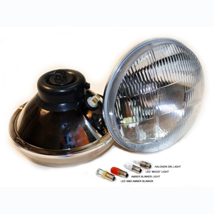 "1189 Series 7"" Headlight Classic Hi/Lo with City Lights"