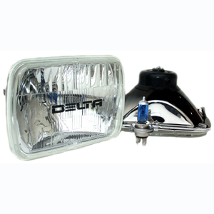 1249 Series Rectangular 200mm H4 Headlights Hi/Lo 60/55W - Replaces H6054
