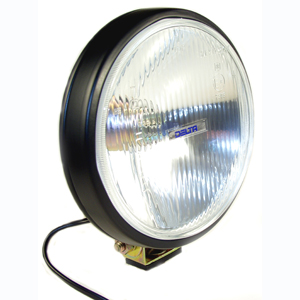 100 Series Thinline Driving Light Kit - Black (Steel Housing with White Cover)