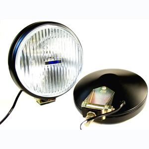 100 Series Thinline Fog Light Kit - Black (Steel Housing with White Cover)