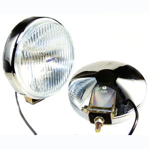 100 Series Thinline Fog Light Kit - Chrome (Steel Housing with White Cover)