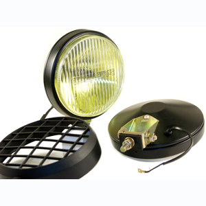 100 Series Thinline Fog Amber Light Kit - Black (Steel Housing with White Cover)