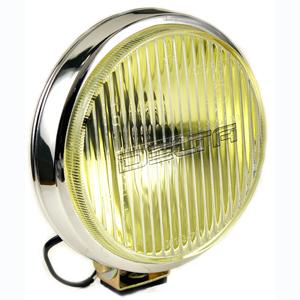 100 Series Thinline Fog Amber Light Kit - Chrome (Steel Housing with White Cover)