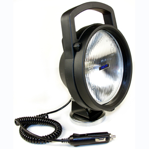 Portable Magnetic Rotating Utility Spotlight with Handle, Switch and 12' Cord