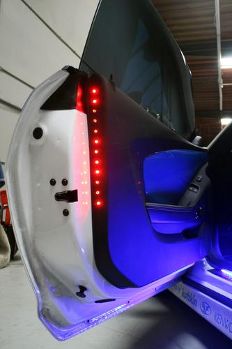 "2x 12"" LED 2 DR Safety Light Strip - Red"