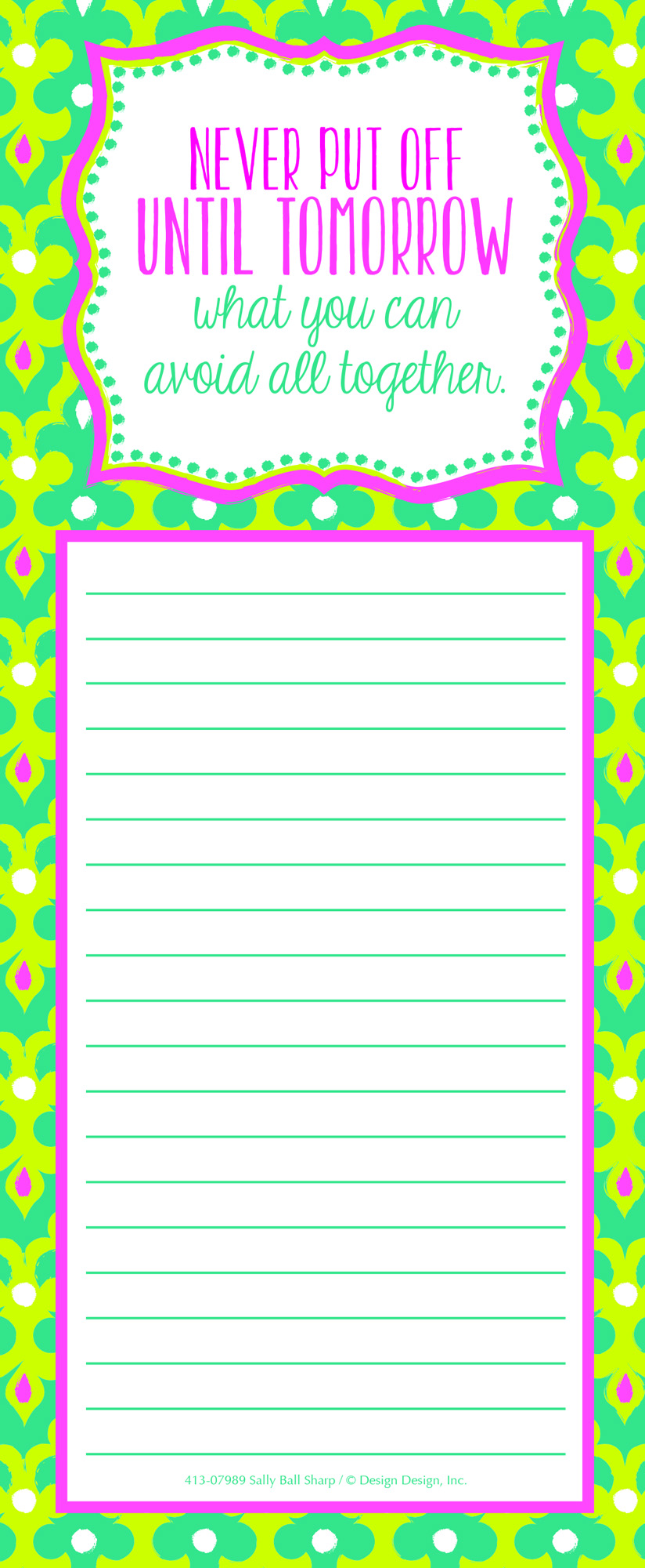 Avoid All Together Shopping List Pad