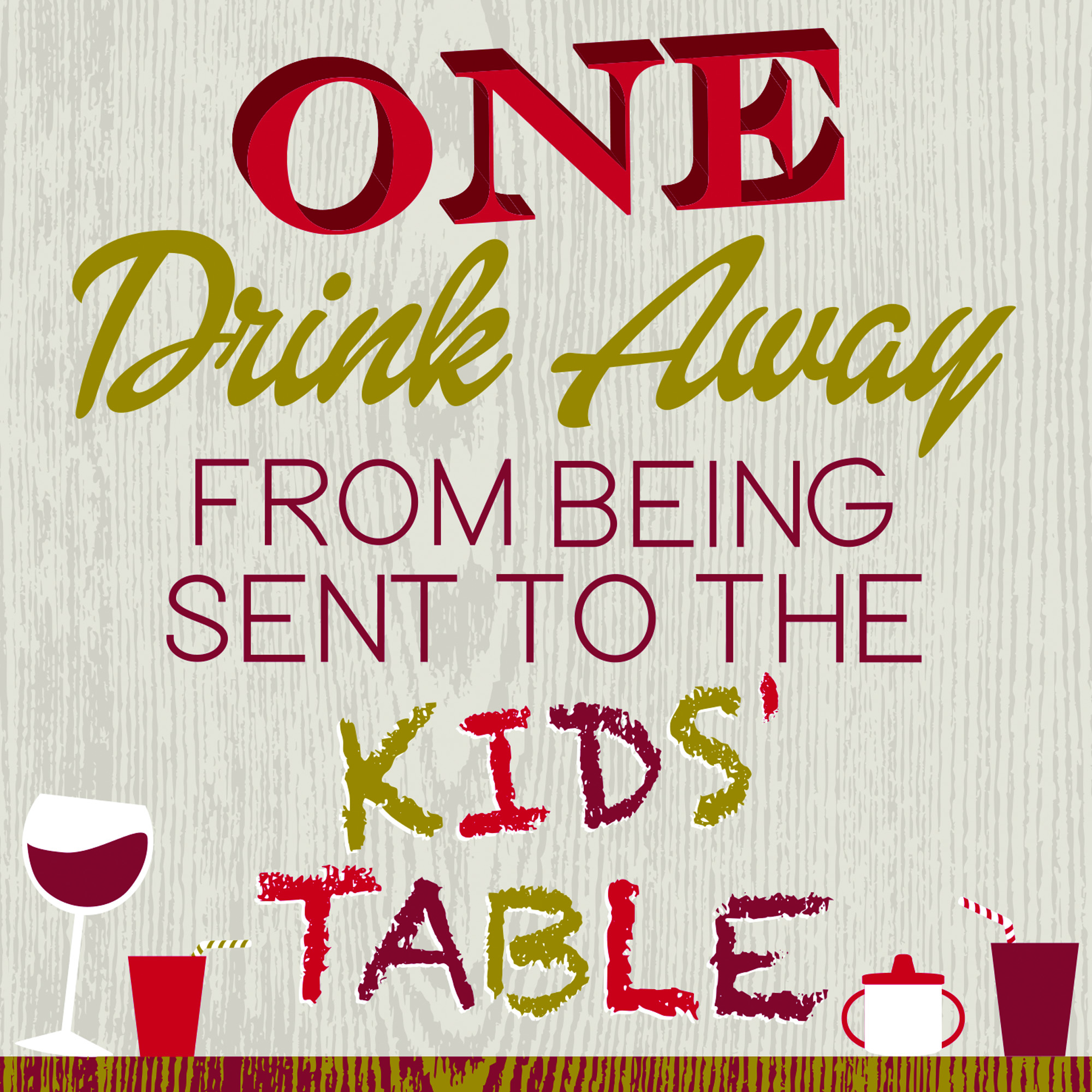 The Kids Table Cocktail Napkins