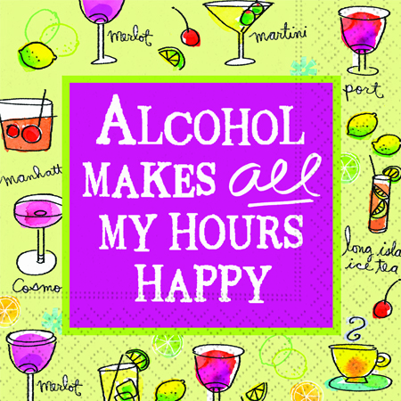 All My Hours Happy Cocktail Napkins