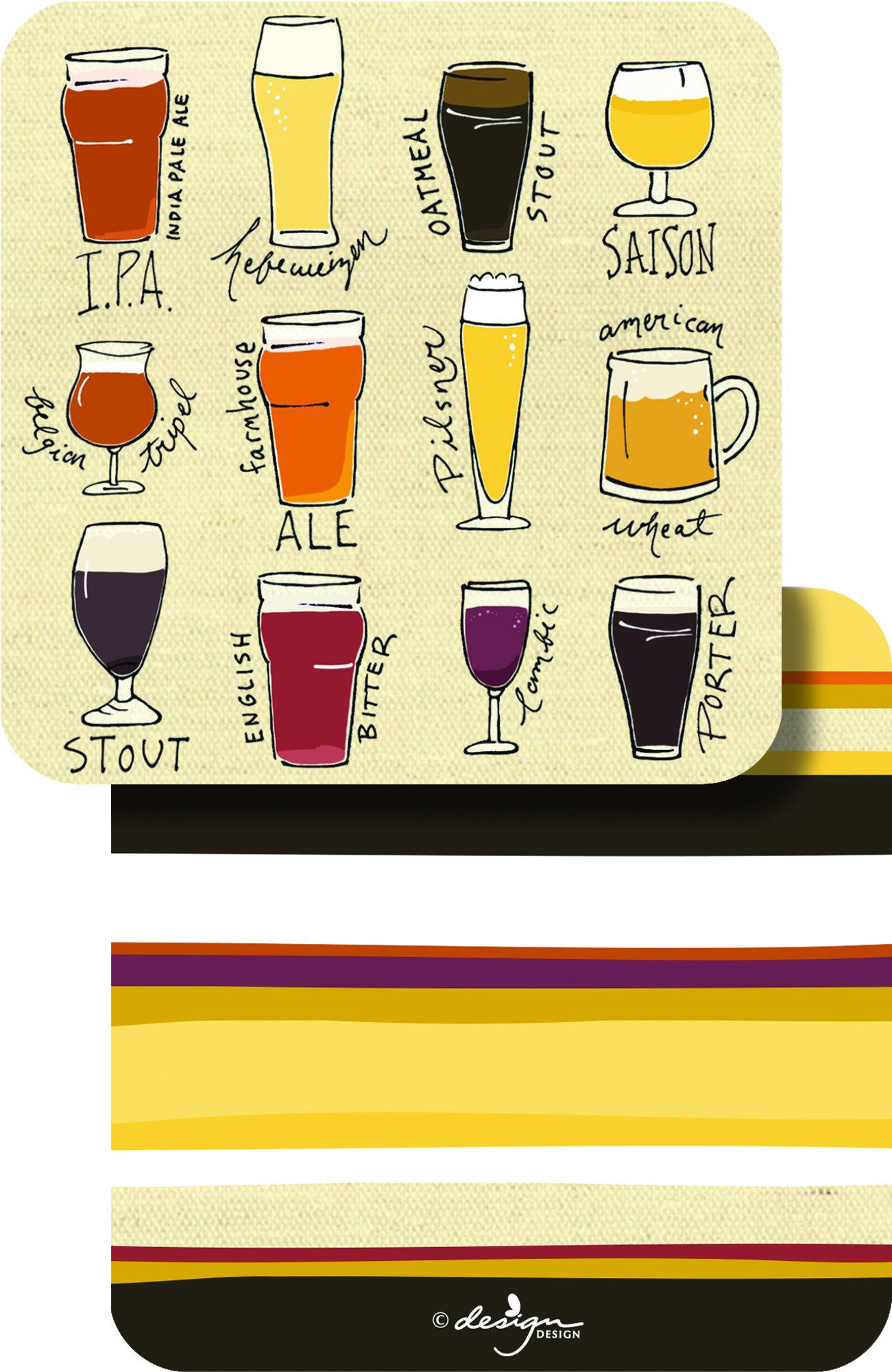 Choose Your Brew Paper Coasters