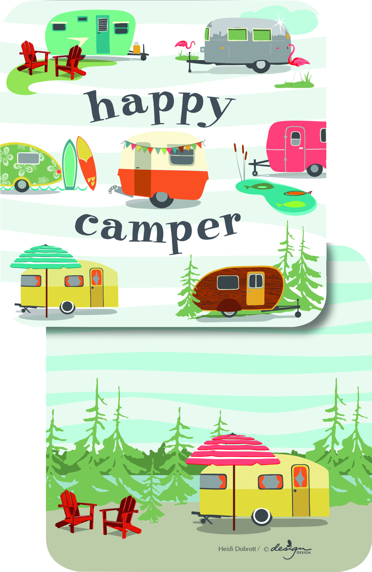 Happy Camper Paper Coasters