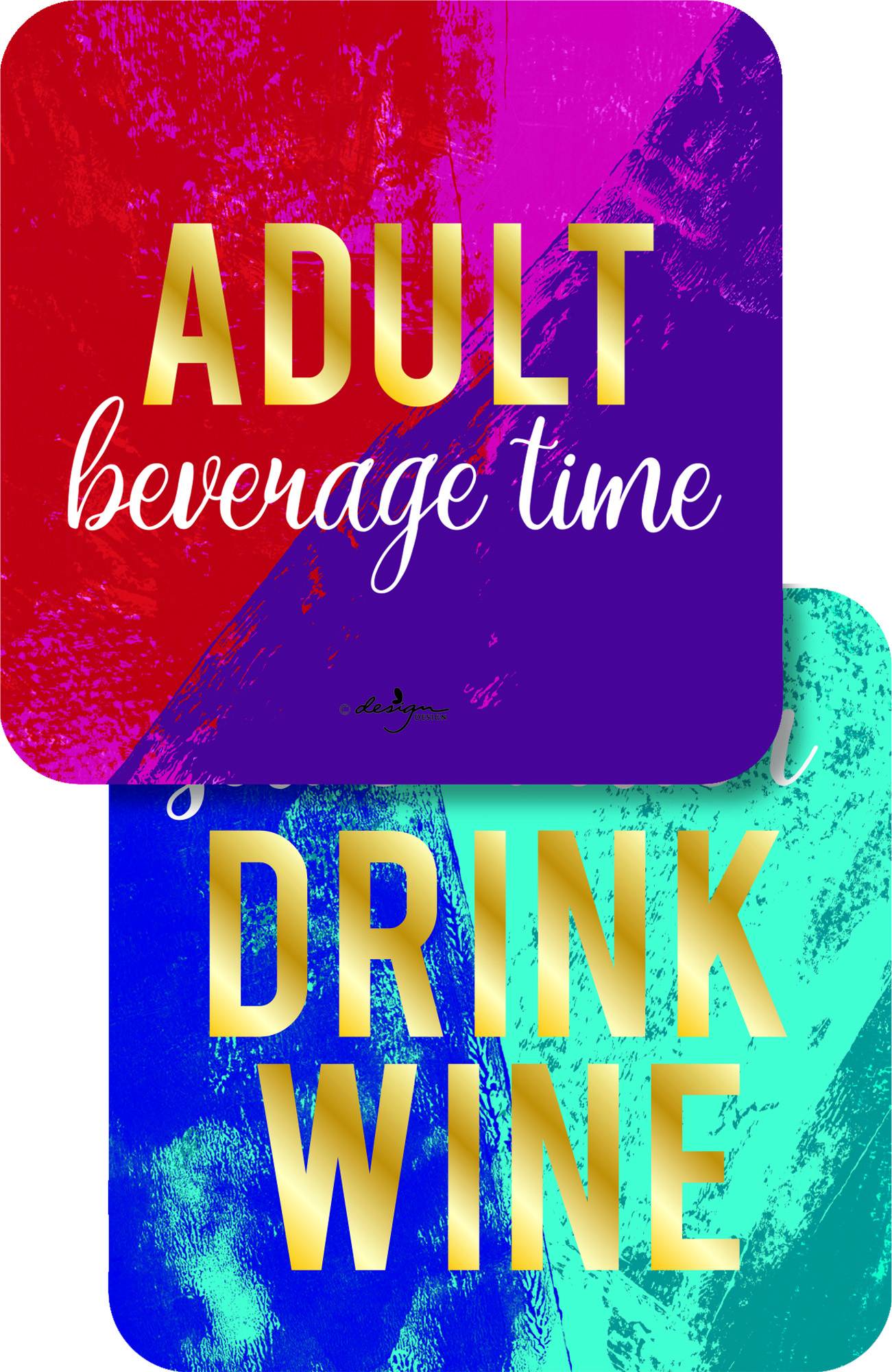 Adult Beverage Time Paper Coasters