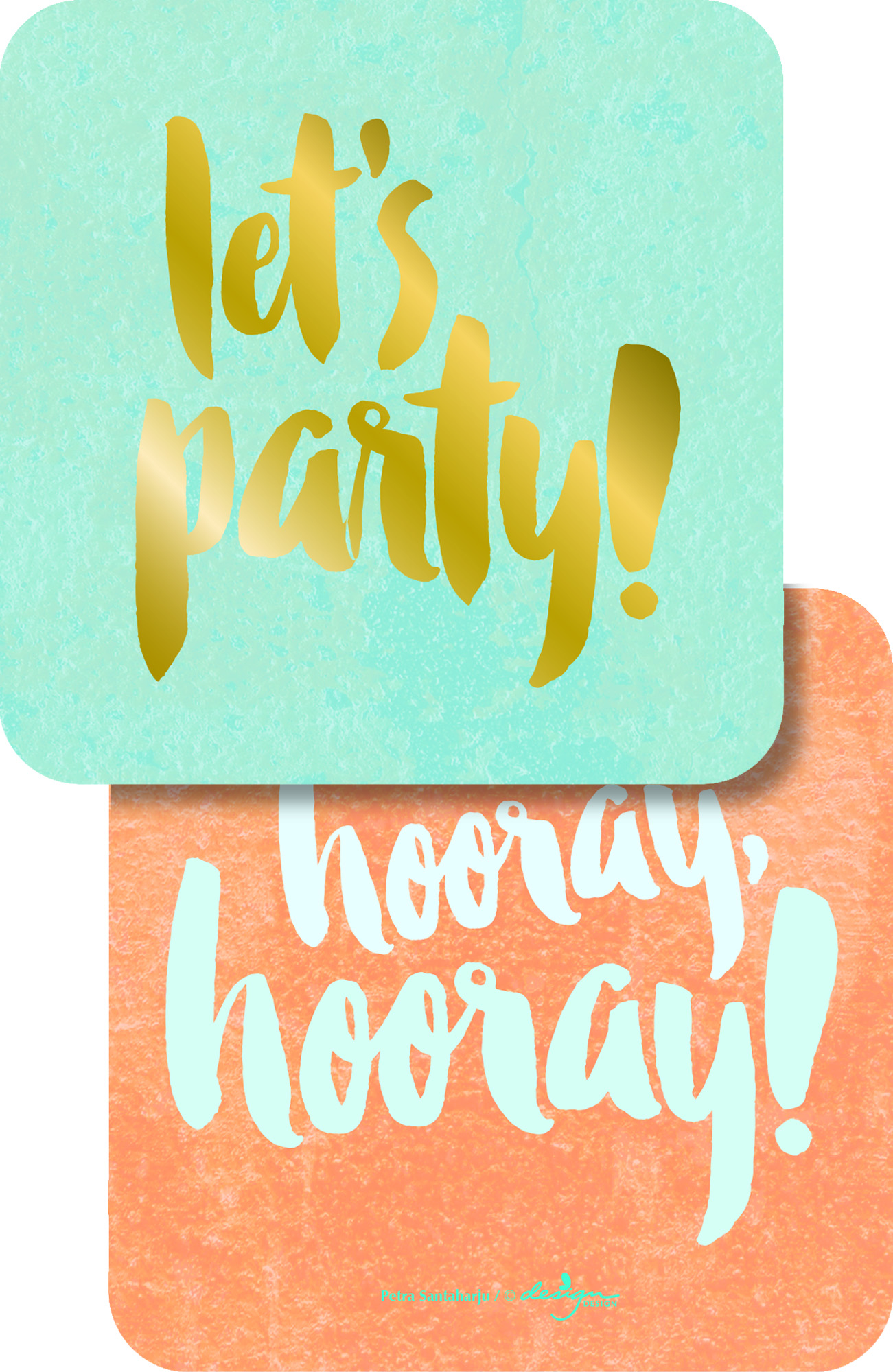Let's Party - Pink Paper Coasters