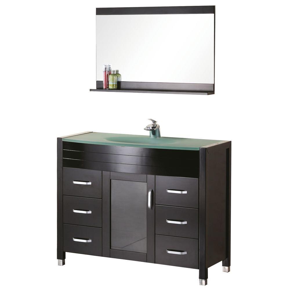 """Bathroom Sink Vanity Set, 48"""" Single Under-Mount Sink, Waterfall"""