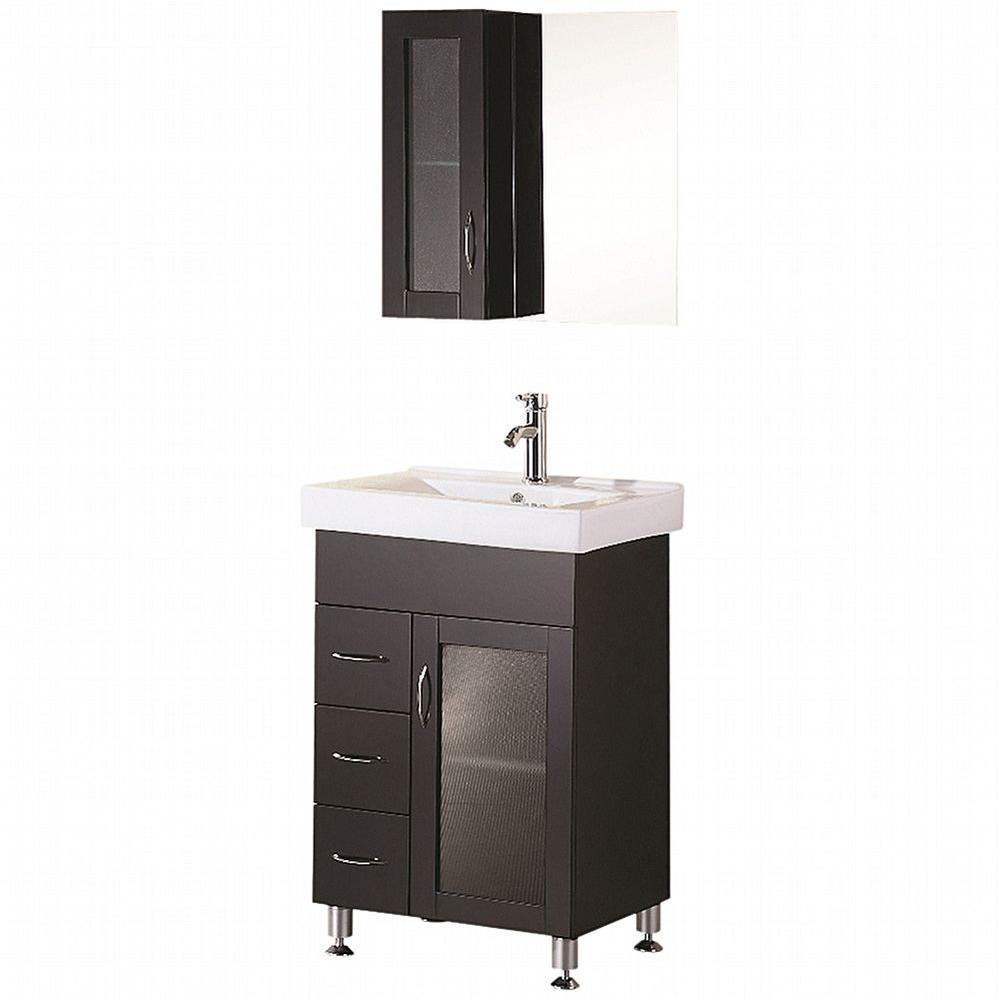 """Bathroom Sink Vanity, 24"""" Single Drop-In Sink, Oslo"""