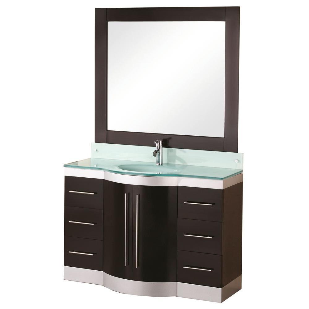 """Bathroom Sink Vanity, 48"""" Single Drop-In Sink, Jade"""