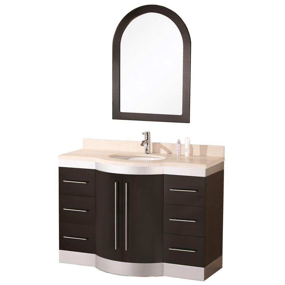 """Bathroom Sink Vanity, 48"""" Single Under-Mount Sink, Jade"""