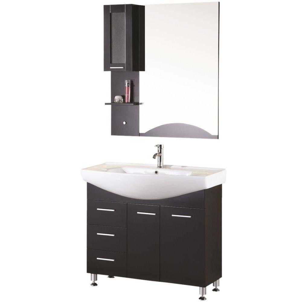 """Bathroom Sink Vanity, 40"""" Single Drop-In Sink, Sierra"""