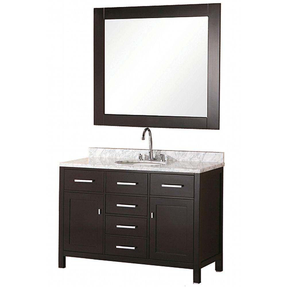 """Bathroom Sink Vanity Set, 48"""" Single Drop-In Sink, London"""