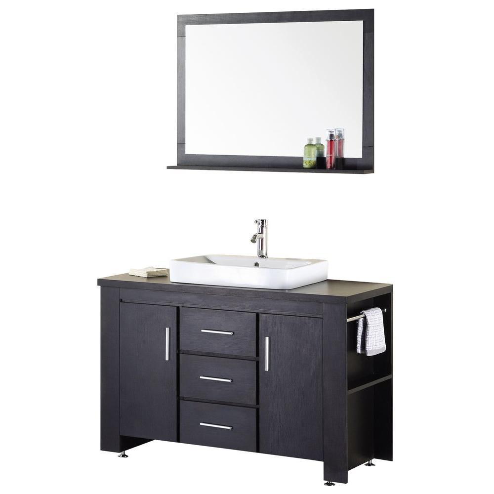"Bathroom Sink Vanity, 48"" Single Drop-In Sink, Washington"