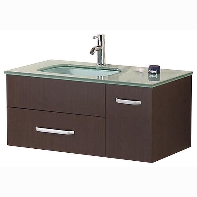 "Bathroom Sink Vanity, 35"" Single Under-Mount Sink, Christine"