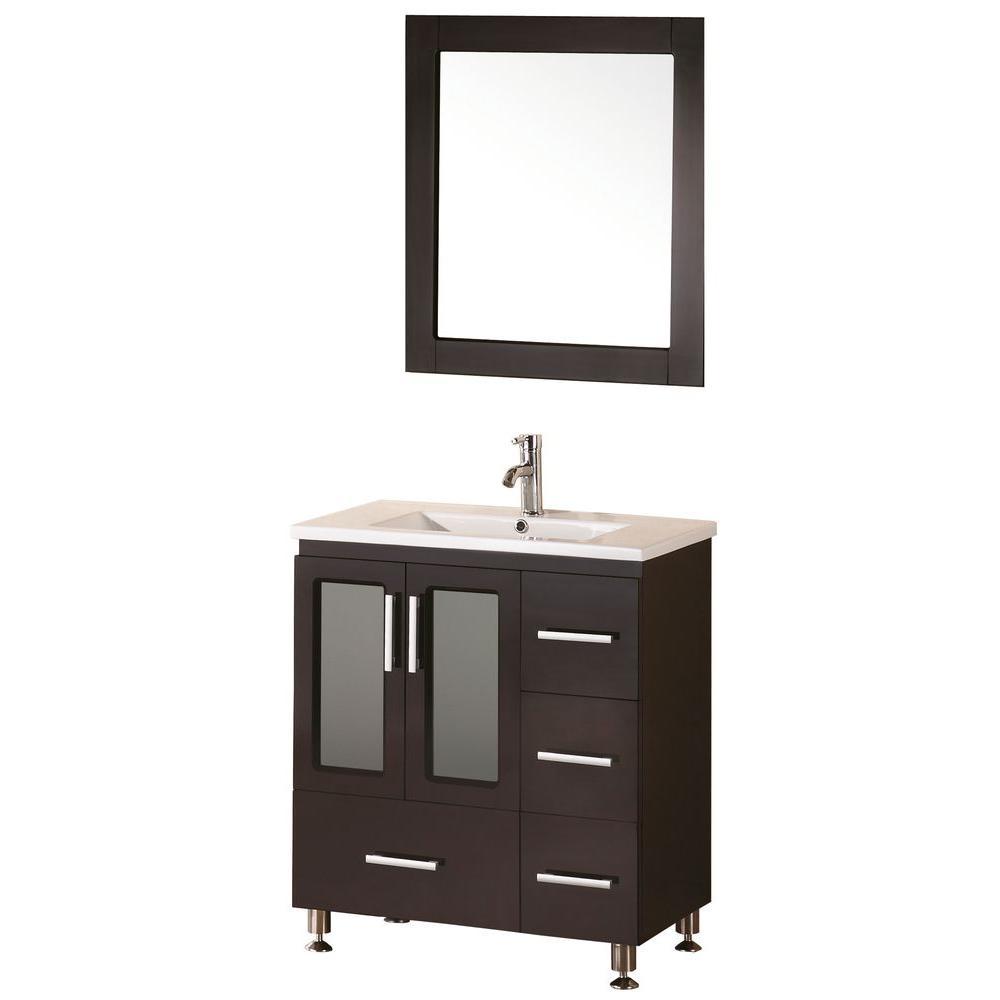 """Bathroom Sink Vanity, 32"""" Single Drop-In Sink, Stanton"""