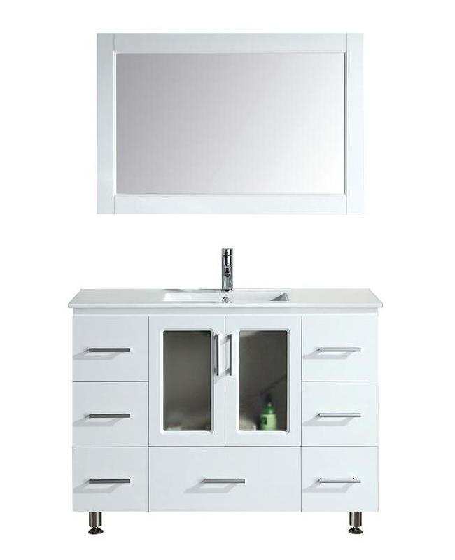 """Bathroom Sink Vanity, 48"""" Single Drop-In Sink, Stanton"""
