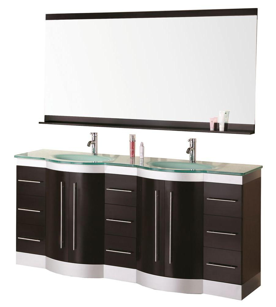 "Bathroom Sink Vanity Set, 72"" Double Drop-In Sink, Jasper"